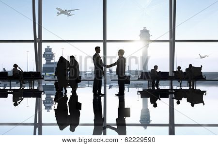 Business Handshake at Airport