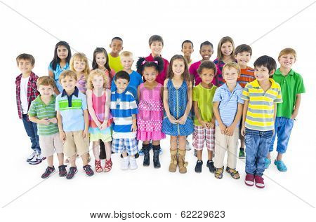 Large Group of Diverse World Children