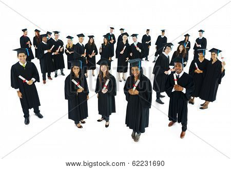 Diverse Graduating Students with Certificates