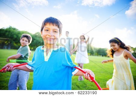 Family Having Fun in a Park