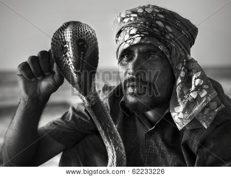 Snake Charmer With Cobra in Sri Lanka