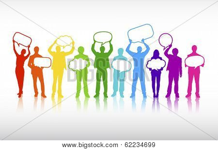 Vector of Colorful Business Communications