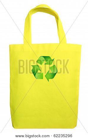 Yellow Fabric Eco Recycle Bag
