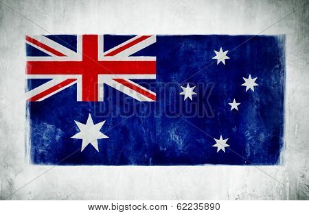 Painting Of The National Flag Of Australia