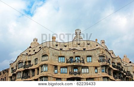 Casa Mila Or La Pedrera In Barcelona, Spain