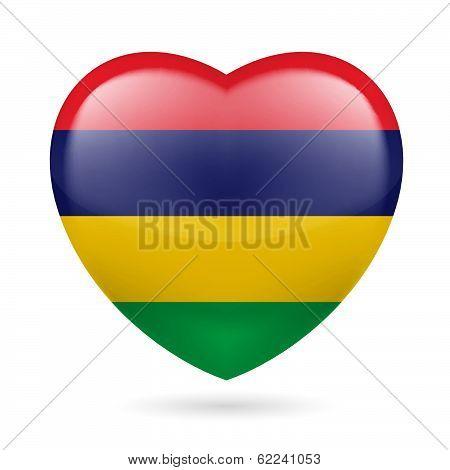 Heart icon of Mauritius