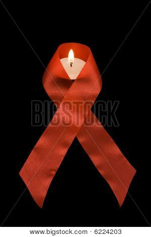Aids symbol awareness hiv in black background