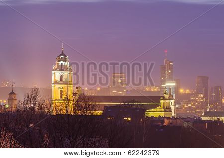 Vilnius (Lithuania) at night