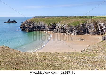 Secluded Beach Along Pembrokeshire Coastal Path