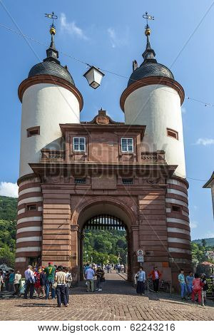 Bridge And Town Gate Of Heidelberg, Germany