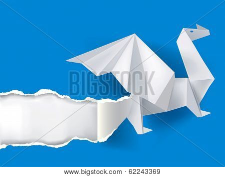 Origami_dragon_ripping_paper