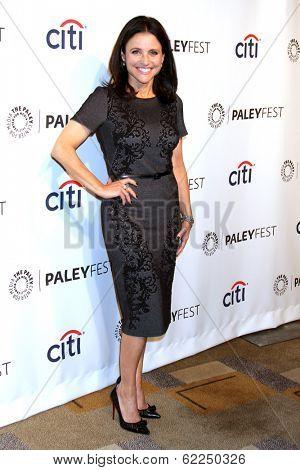 LOS ANGELES - MAR 27:  Julia Louis-Dreyfus at the PaleyFEST 2014 -