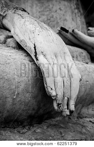 Closeup Of The Fingers Of A Buddha Statue