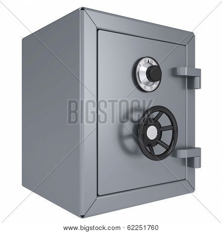 Closed metal safe