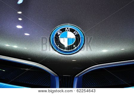 Nonthaburi - March 25:logo Of  New Bmw I8  On Display At The 35Th Bangkok International Motor Show O