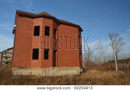 Lost city. Near Chernobyl area. Kiev region,Ukraine. Abandoned cottage construction site