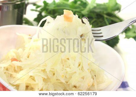Delicious Sauerkraut On A Fork