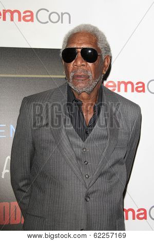 LOS ANGELES - MAR 27:  Morgan Freeman at the  CinemaCon 2014 - Warners Brothers Photocall at Caesars Palace on March 27, 2014 in Las Vegas, NV