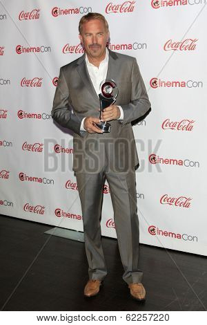 LOS ANGELES - MAR 27:  Kevin Costner at the  CinemaCon 2014 Awards Gala at Caesars Palace on March 27, 2014 in Las Vegas, NV