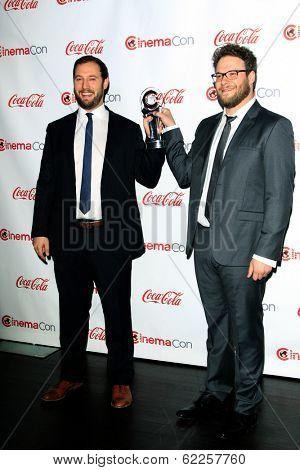 LOS ANGELES - MAR 27:  Evan Goldberg, Seth Rogen at the  CinemaCon 2014 Awards Gala at Caesars Palace on March 27, 2014 in Las Vegas, NV