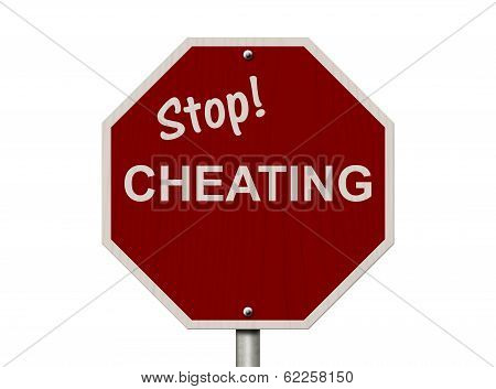 Stop Cheating Sign