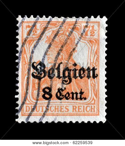 Occupation of Belgium stamp