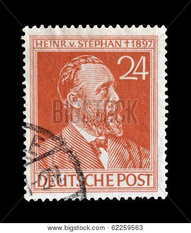 Heinrich von Stephan stamp 1947