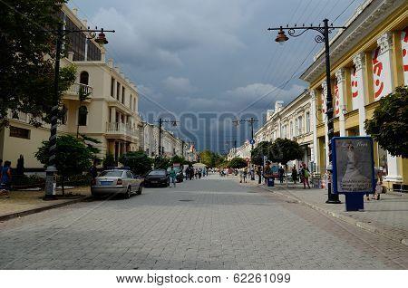 Karl Marx Street In Simferopol