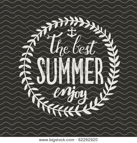 Enjoy the best summer. Concept vector card