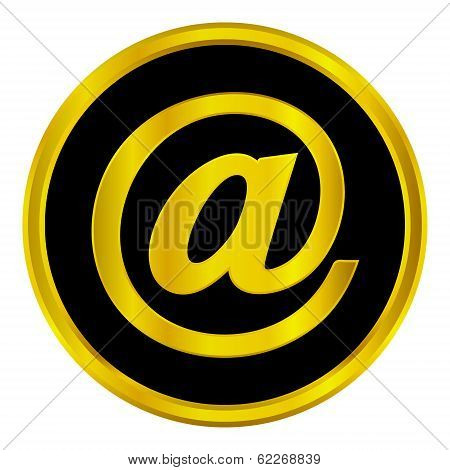 Golden Email Button