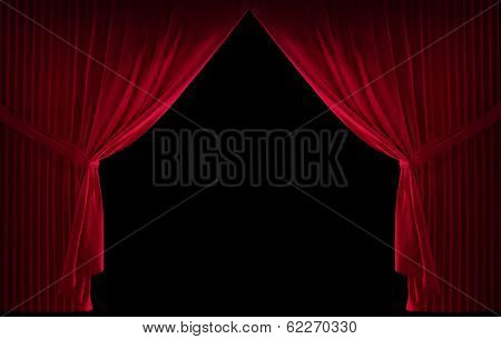 Velvet red curtain
