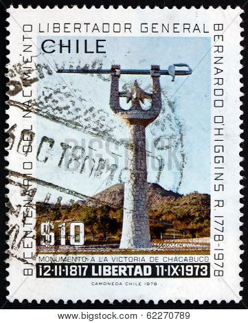 Postage Stamp Chile 1978 Chacabuco Victory Monument