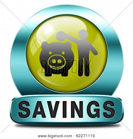saving money in piggy bank deposit account with savings plan save cash online banking