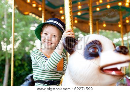 Kid At The Merry-go-round
