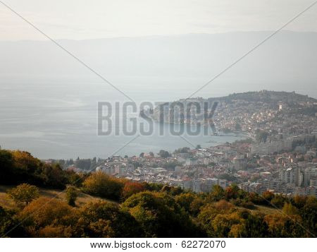 View Of Ohrid Macedonia