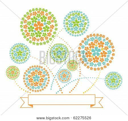 Floral Fireworks Illustration