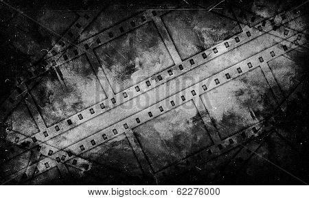 Black And White Grange Background 35 Mm Film