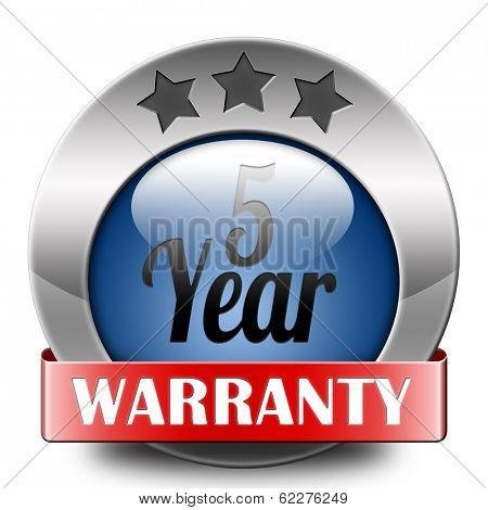 5 year warranty top quality product five years assurance and replacement best top quality guarantee guaranteed commitment
