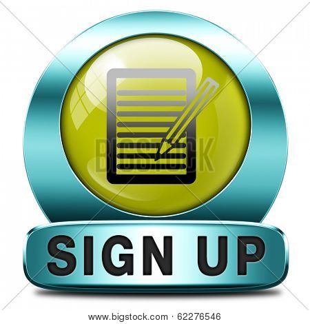 sign up or apply now icon and subscribe here for membership. Fill in application form.