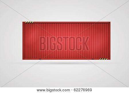 Vector Cargo Red Container. Separated layers. Easy editable. CMYK color mode.