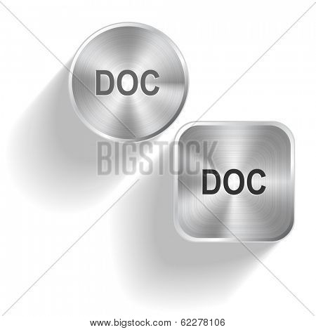 Doc. Vector set steel buttons