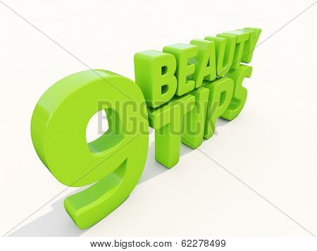 Beauty tips con on a white background. 3D illustration.