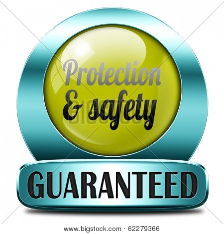 protection and safety first label or sign protect data privacy and personal info security guaranteed