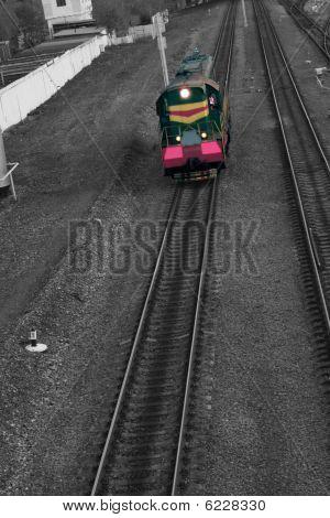 train on railroad