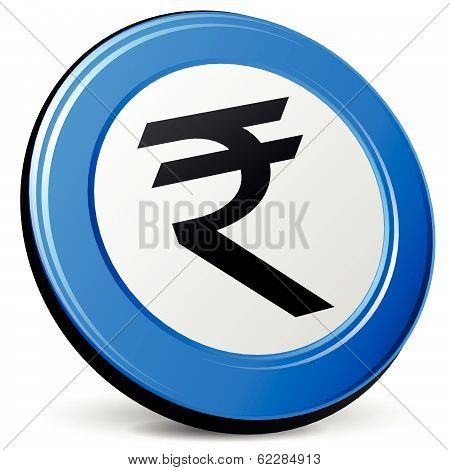 Vector 3D Rupee Icon