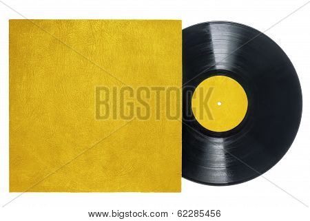 Retro Long Play Vinyl record with Gold Sleeve.