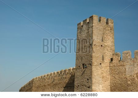 Wall Of Old Moldavian Fortress In Belgorod-dnestrovsky,ukraine