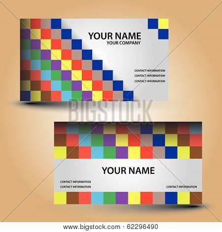 business card color bricks eps10