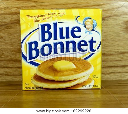Box Of Blue Bonnet Margarine