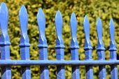 Cast iron blue fence